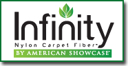 Infinity Nylon carpet fiber™ By American Showcase®.